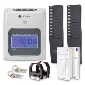 Lathem® Time 400E Top-Feed Time Clock Bundle