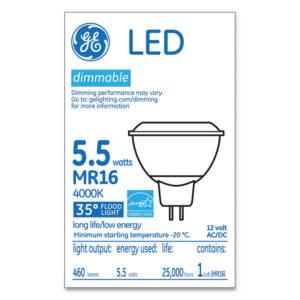GE LED MR16 GU5.3 Dimmable Warm White Flood Light