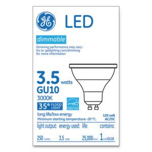GE LED MR16 GU10 Dimmable Warm White Flood Light