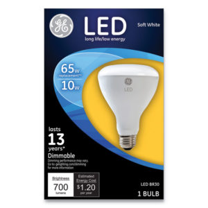 GE LED BR30 Dimmable SW Flood Light Bulb