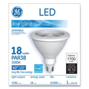 GE LED PAR38 Dimmable 40 DG Daylight Flood Light Bulb