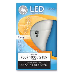 GE LED Daylight 3-Way A21 Light Bulb
