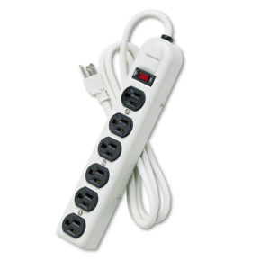 Fellowes® Six-Outlet Metal Power Strip