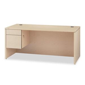 """HON® 10500 Series™ """"L"""" Workstation Single Pedestal Desk"""