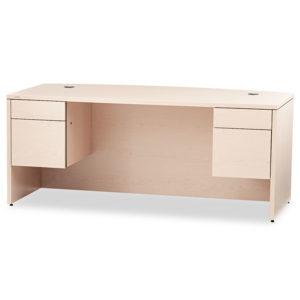 HON® 10500 Series™ Bow Front Double Pedestal Desk