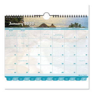 Day-Timer® Coastlines® Tabbed Wall Calendar