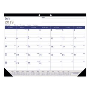 Blueline® Monthly Desk Pad Calendar