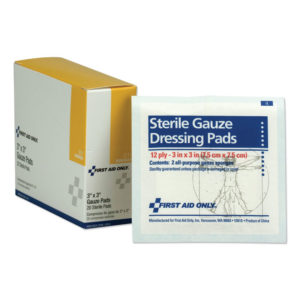 First Aid Only™ Gauze Dressing Pads