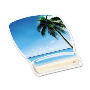 3M™ Fun Design Clear Gel Mouse Pad Wrist Rest
