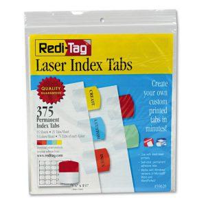 Redi-Tag® Laser and Inkjet Printable Index Tabs