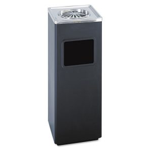 Safco® Square Ash 'N' Trash Sandless Urn